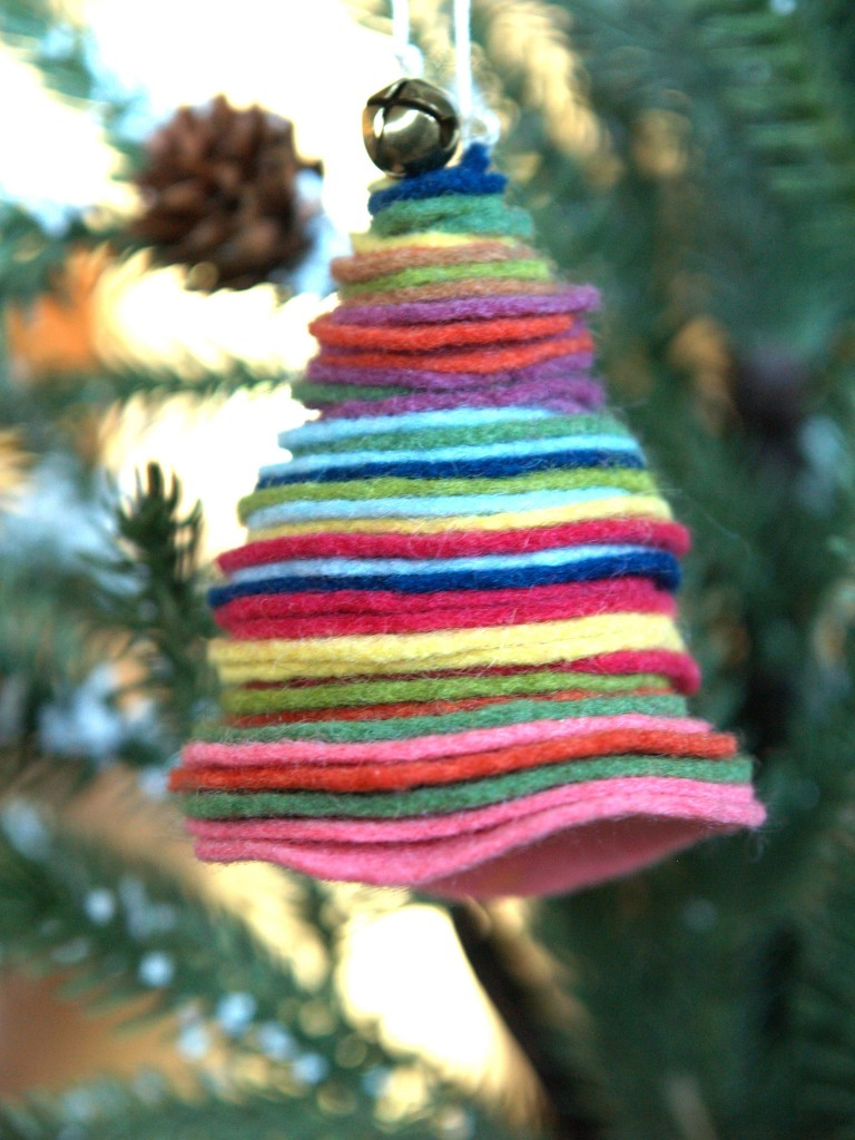 Cute Christmas Tree ornaments from Felt