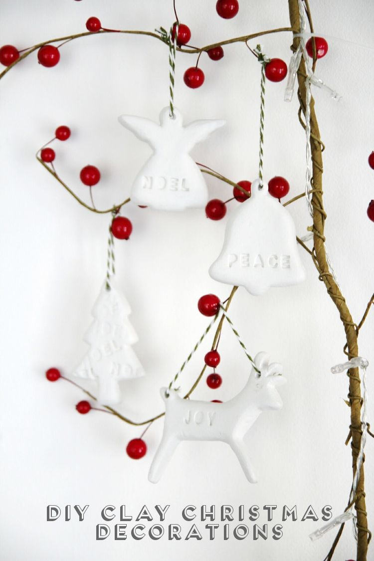 Cute Clay Christmas Ornaments