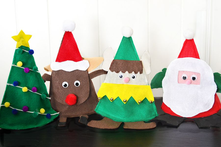 Cute Felt Christmas Trees
