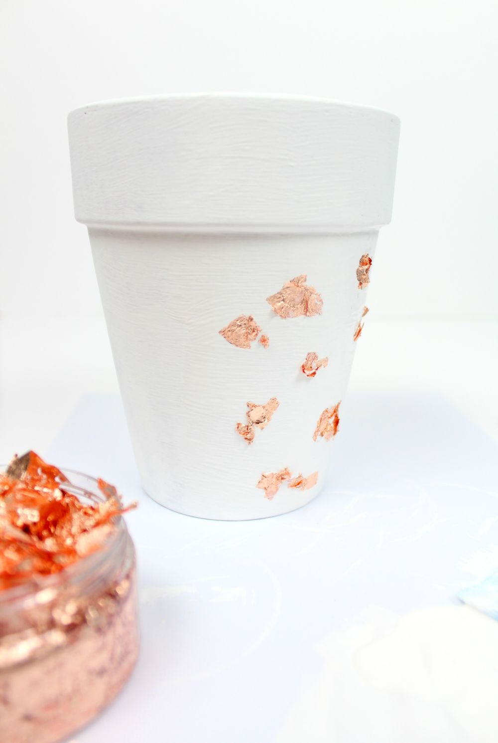 DIY Copper Foil Planter Add Foil