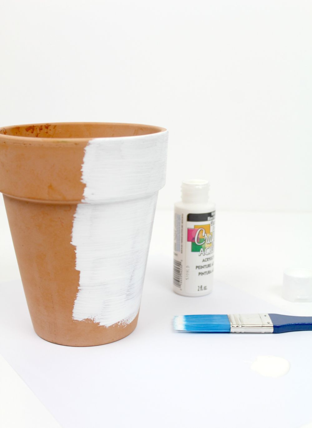 DIY Copper Foil Planter Start Painting