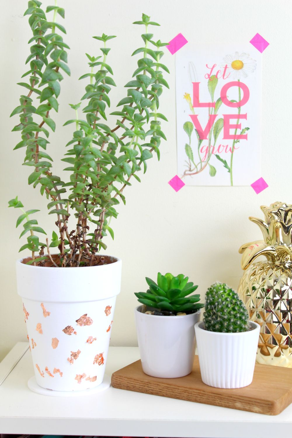 DIY Copper Foil Planter