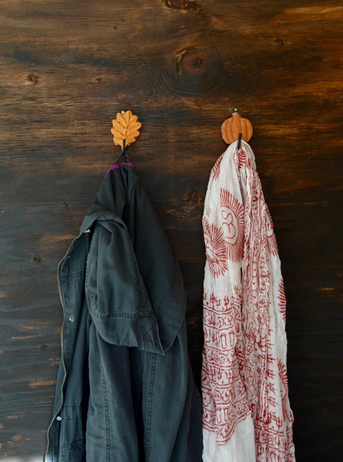 DIY Fall Inspired Leaf and Pumpkin Wall Hooks