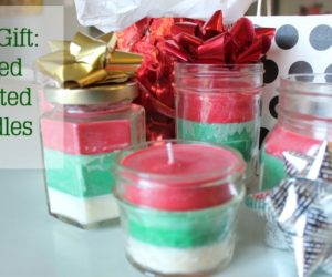 DIY Christmas Gift Idea: Striped Multi-Scented Christmas Candles