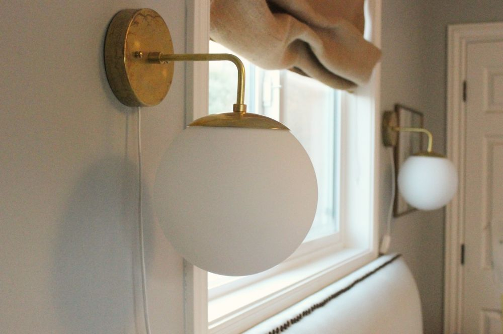 DIY Globe Wall Sconce - High & DIY Globe Brass Wall Sconce