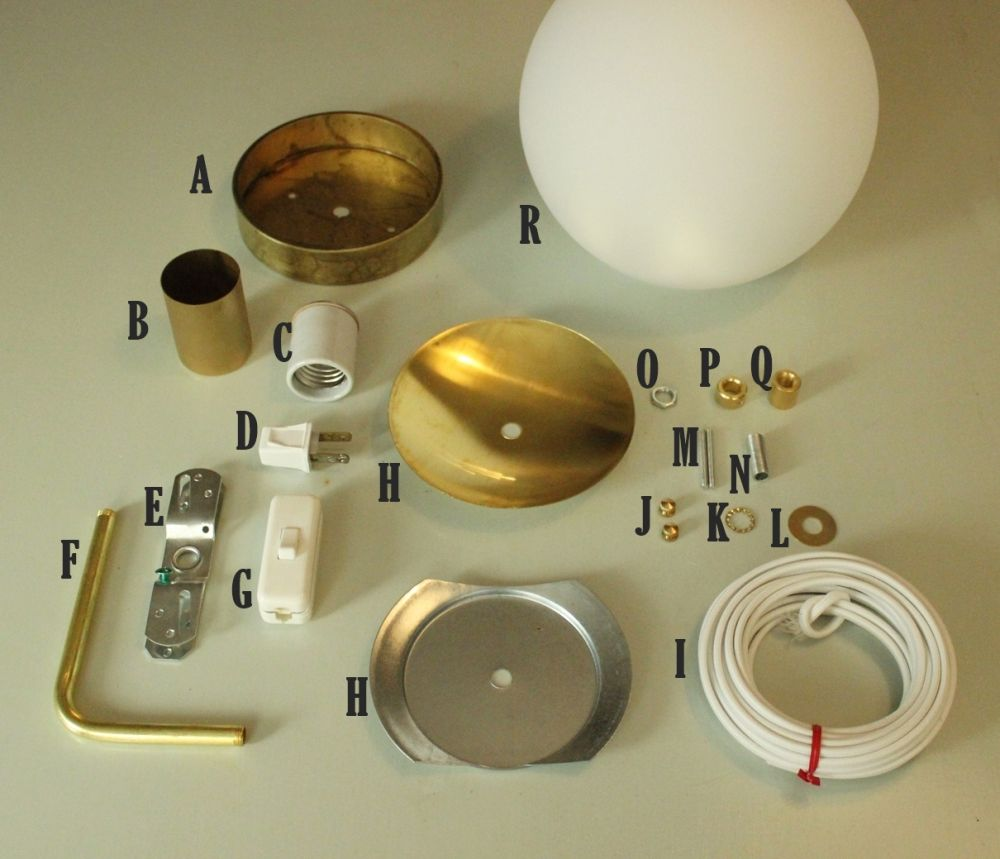 DIY Globe Wall Sconce - Supplies