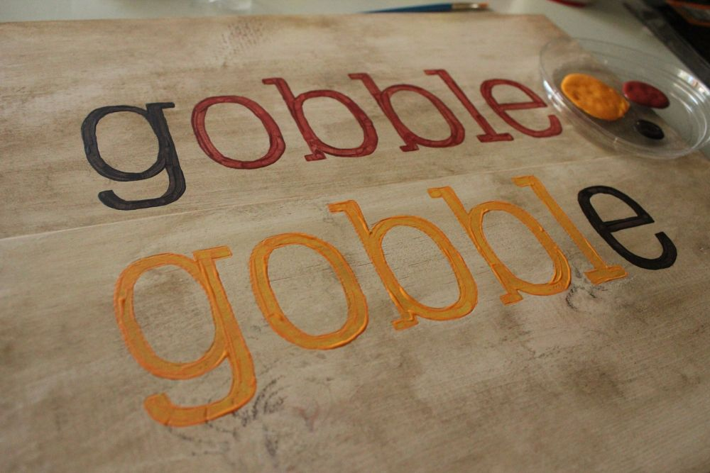 DIY Gobble Sign - Paint