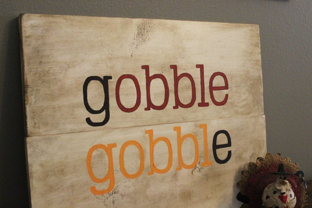 DIY Gobble Sign for Thanksgiving Day