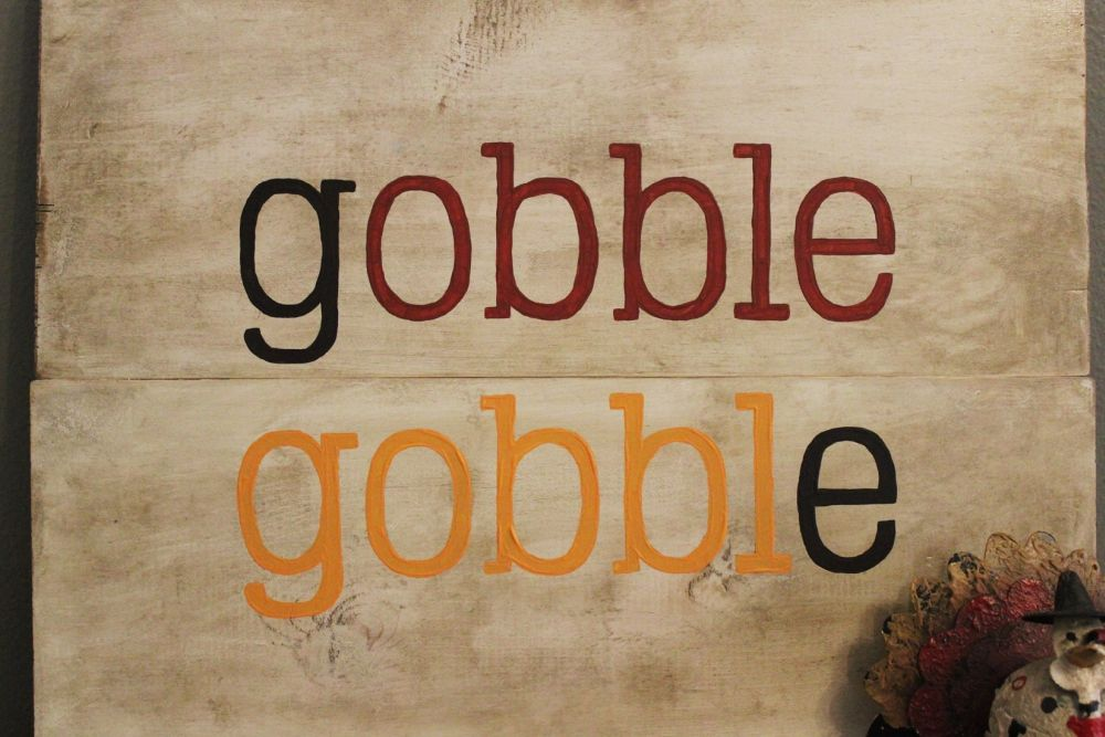 DIY Gobble Sign for thanksgiving