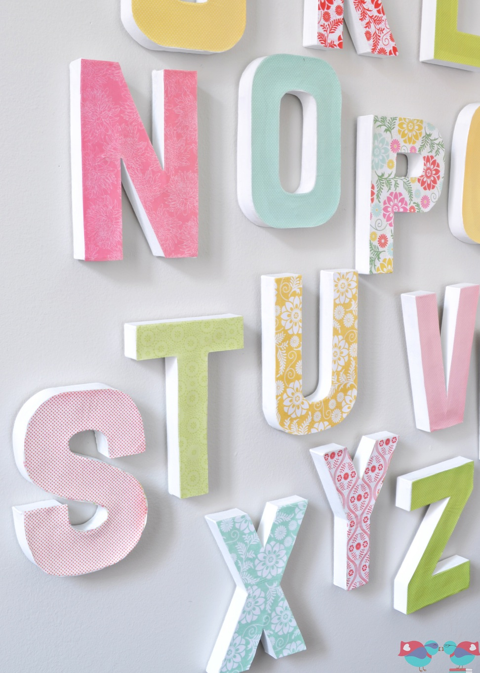 DIY alphabet wall
