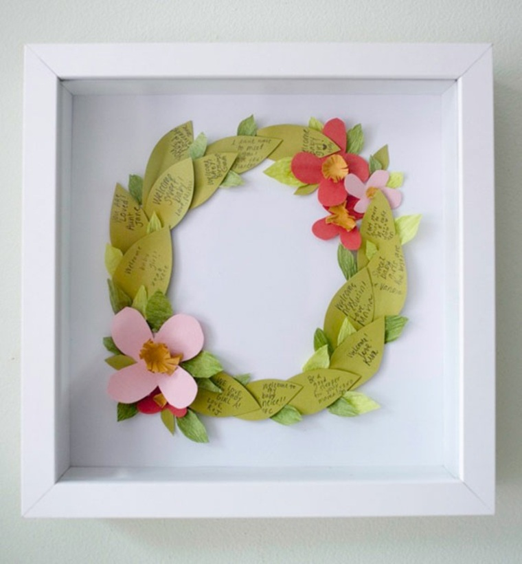 DIY baby shower wreath