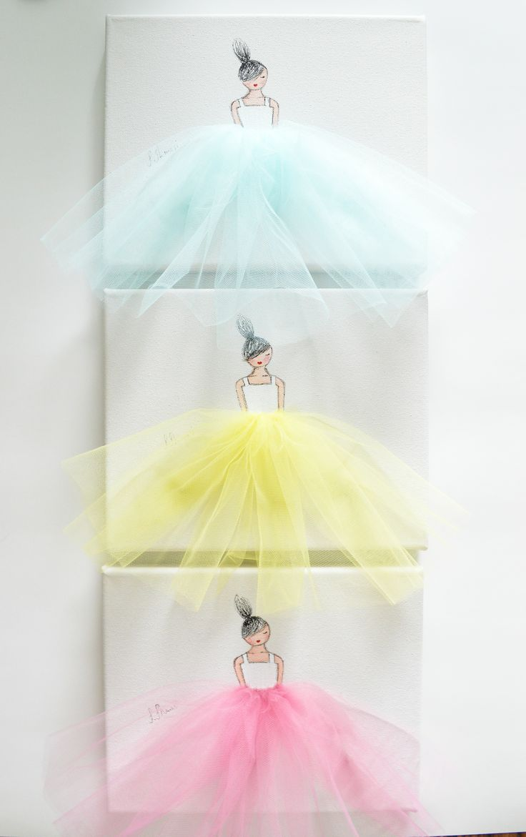 DIY ballerina canvas