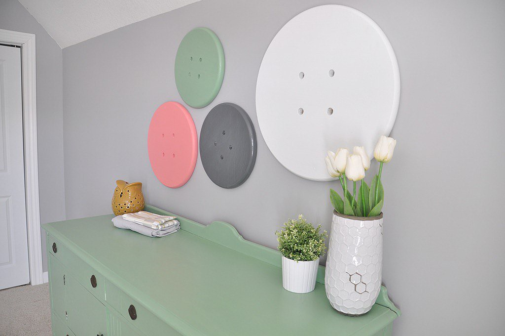 DIY giant button art