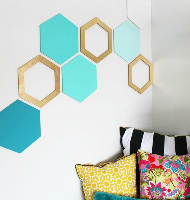 DIY hexagon wall