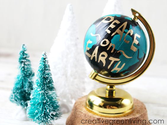 DIY peace quote globe