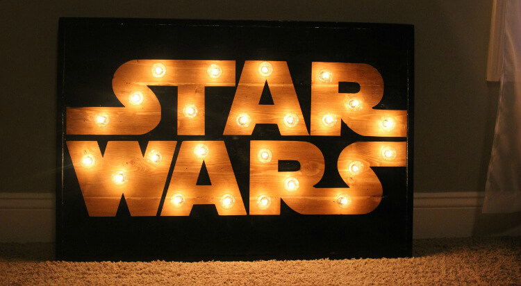 DIY star wars marquee sign