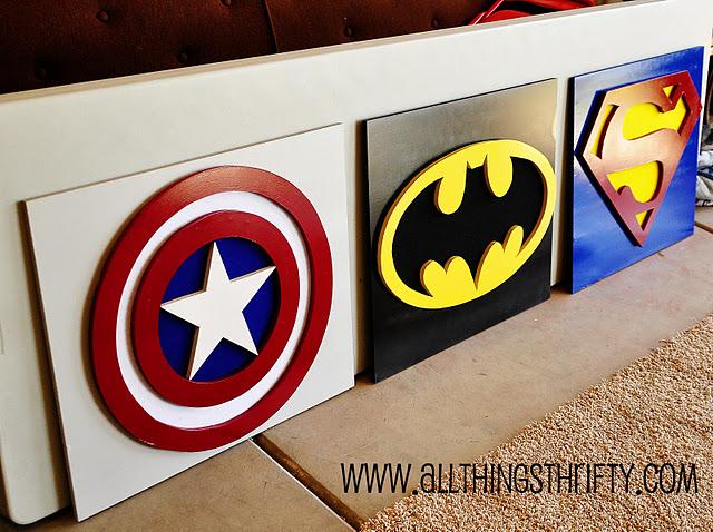 DIY superhero plaques