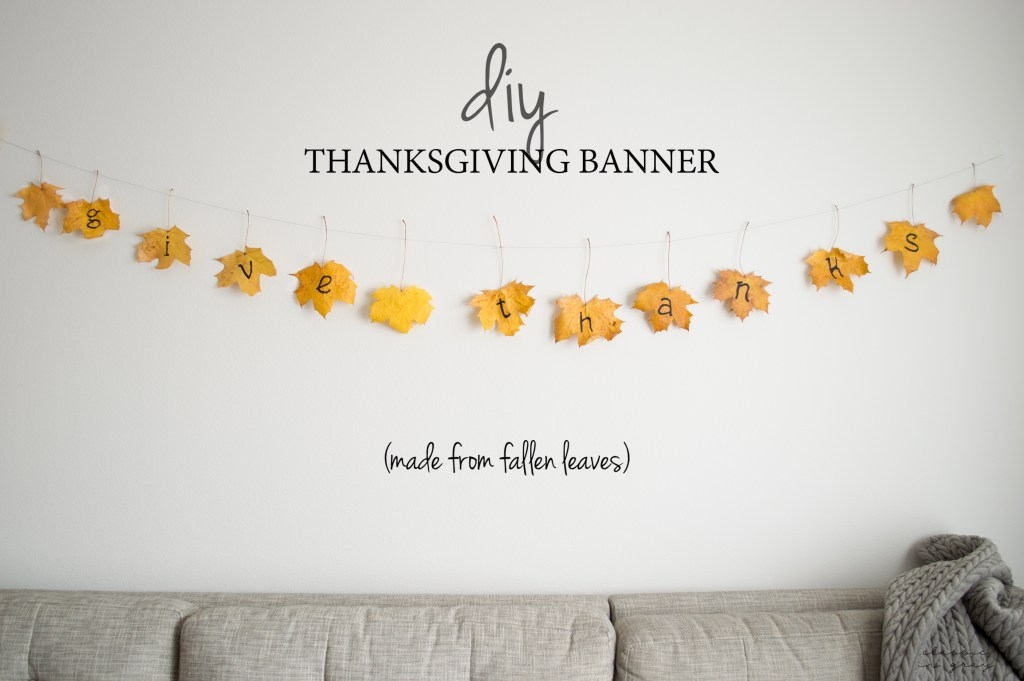 DIY thanksgiving banner