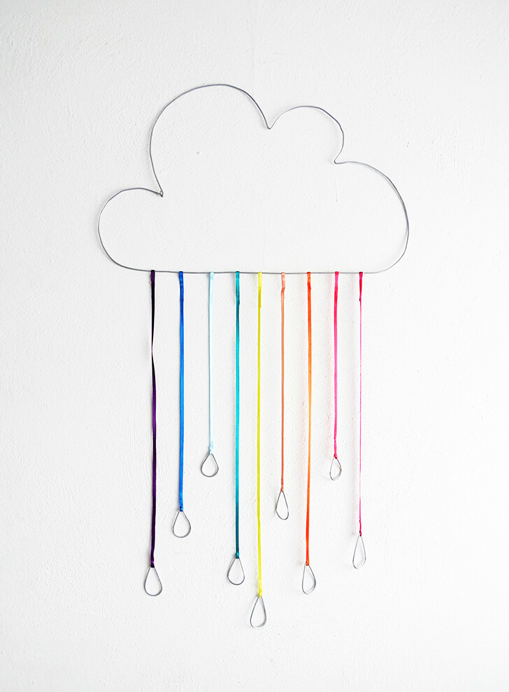 DIY wire rainbow cloud