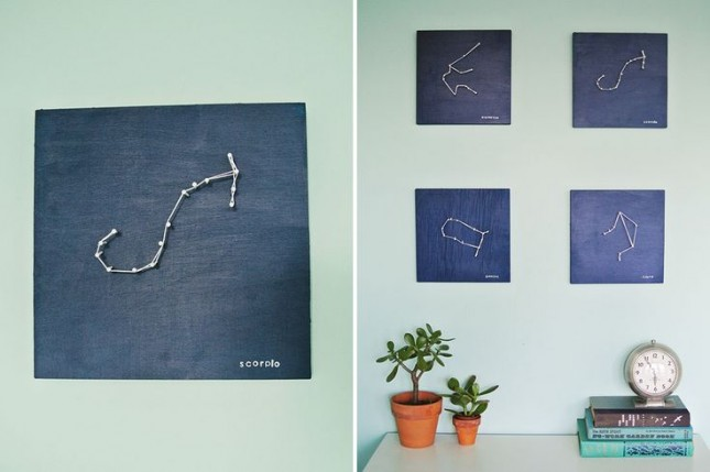 DIY zodiac string art