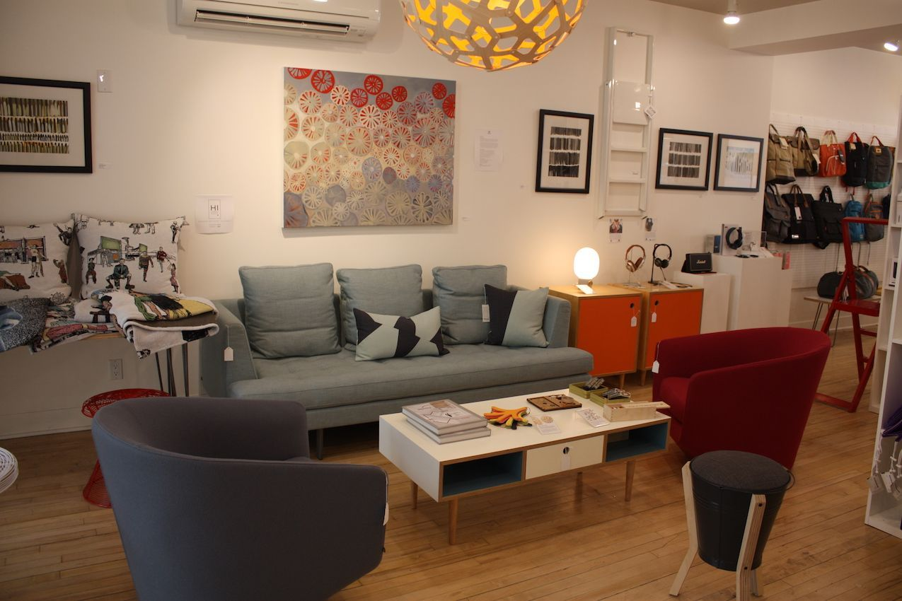 This lovely grouping includes pieces by Danish-born Niels Bendtsen, such as the Morgan sofa, and U Turn chair.