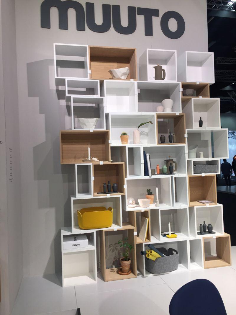 Different size cube shelves