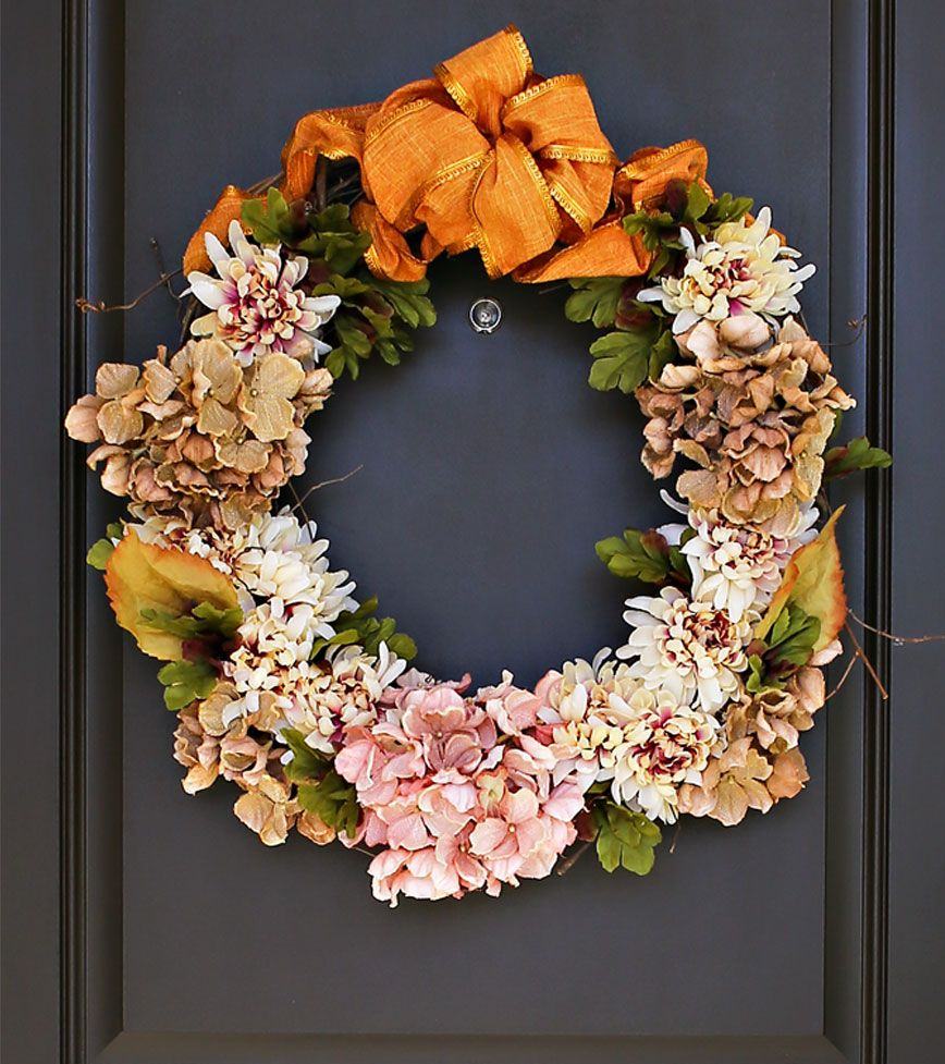 Fall Thanksgiving wreath DIY