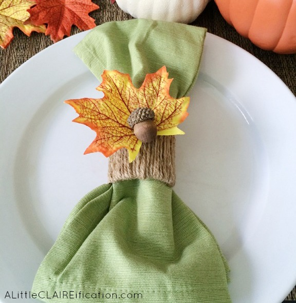 Fall inspired napkin ring