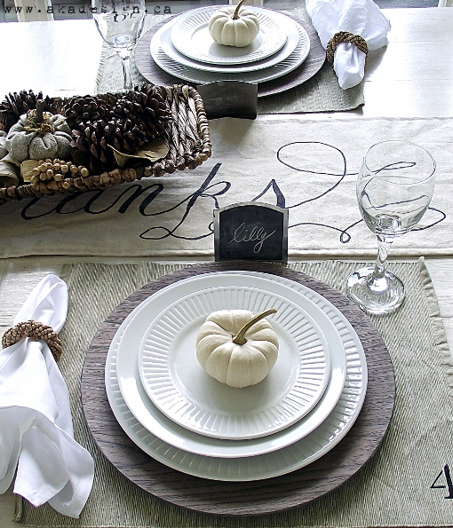 Fall modern country thanksgiving table decor