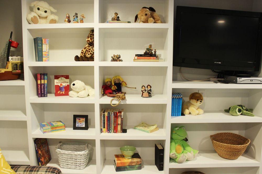Family room storing toys