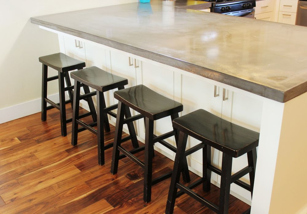Farmhouse-style wooden stools