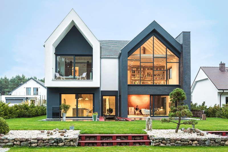 Two Blocks Form A Cozy Family Home In Poland