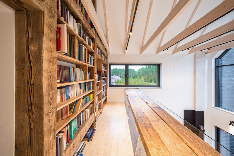 Fence House bookcase