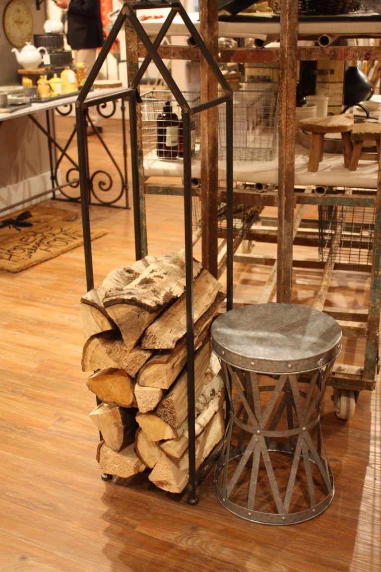 Creative Coop's attractive firewood holder.