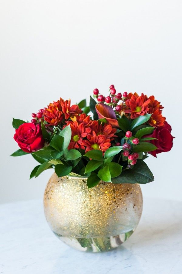 Floral Centerpiece For Christmas