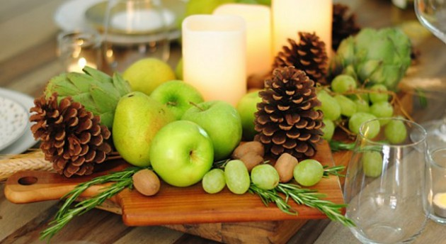 Fresh Green fruits for Table centerpiece