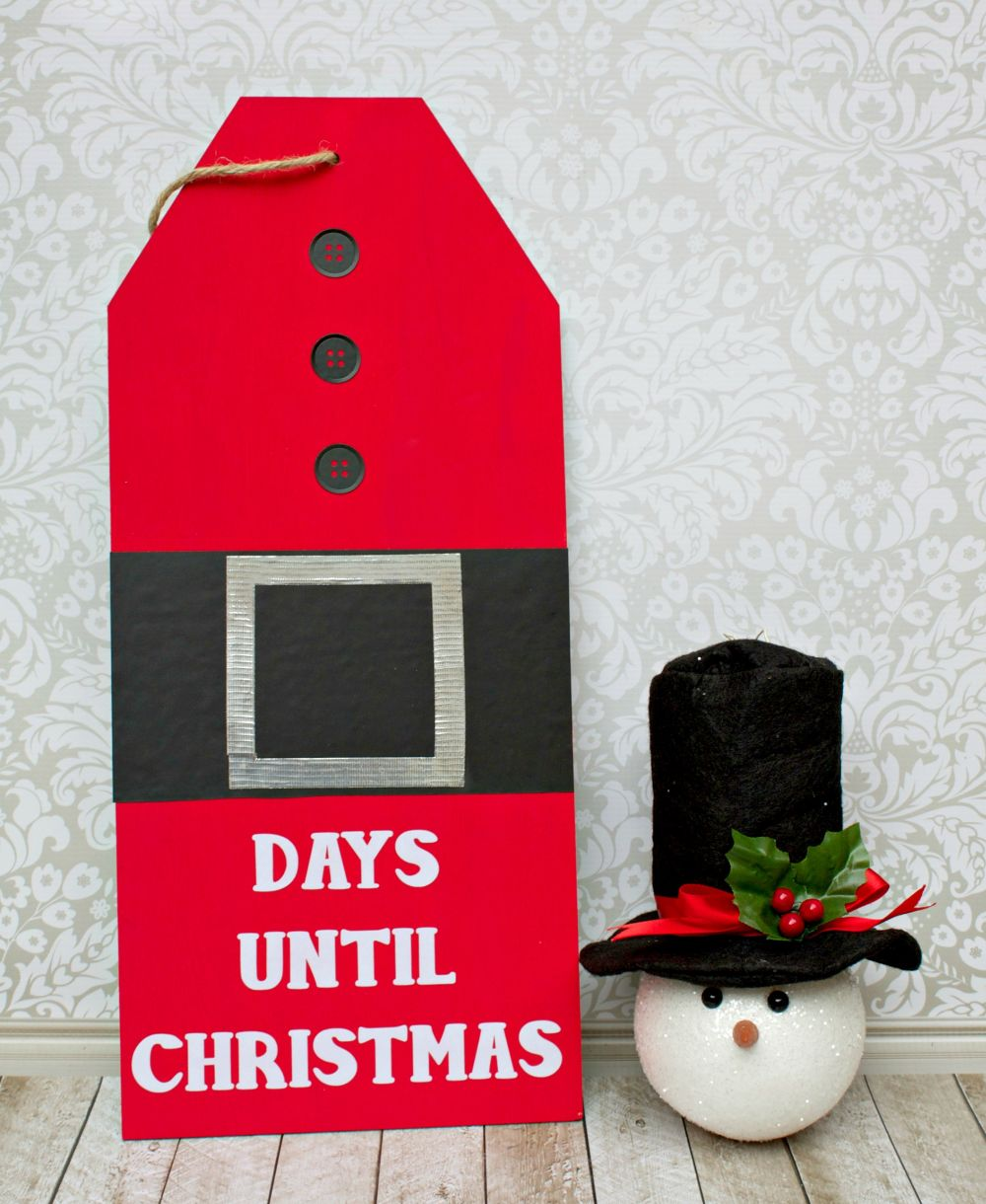 Giant Christmas Countdown Tag DIY