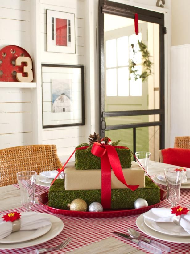 gift box centerpiece - Cheap Christmas Centerpieces