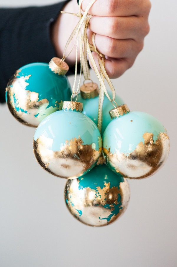 Gold Leaf Christmas Tree Decoration