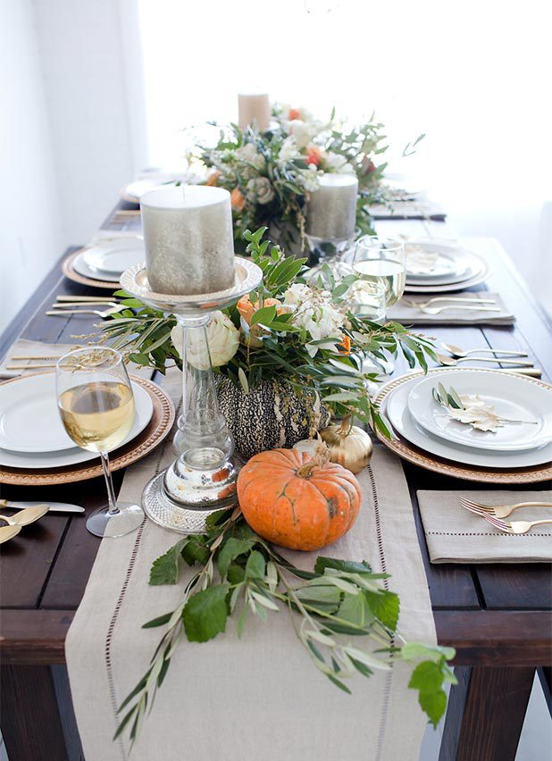 Great Thanksgiving table décor