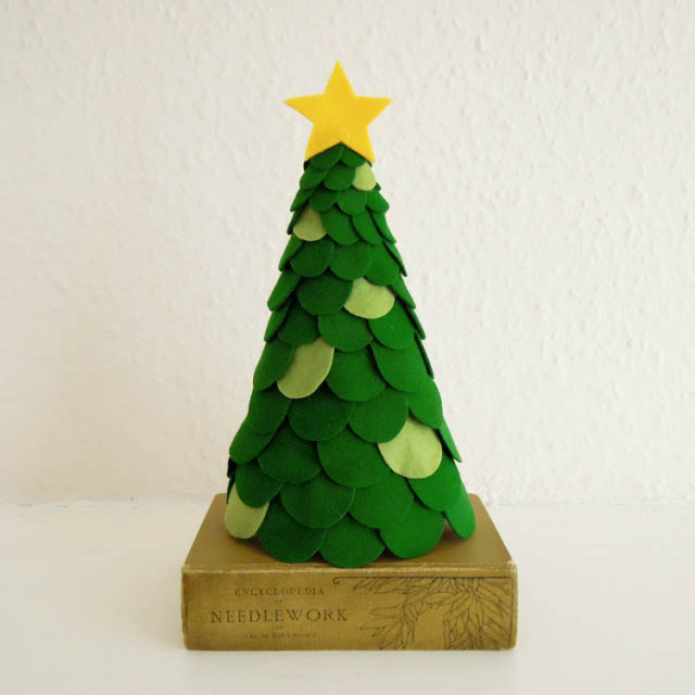 Green Felt Christmas Tree