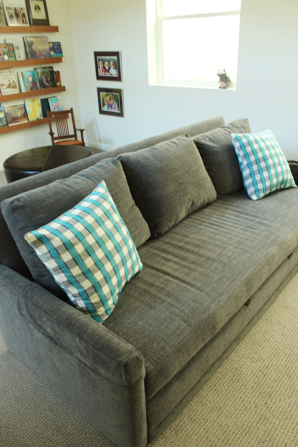 Grey family room couch