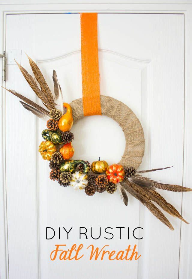 Hanging Rustic Fall Wreath