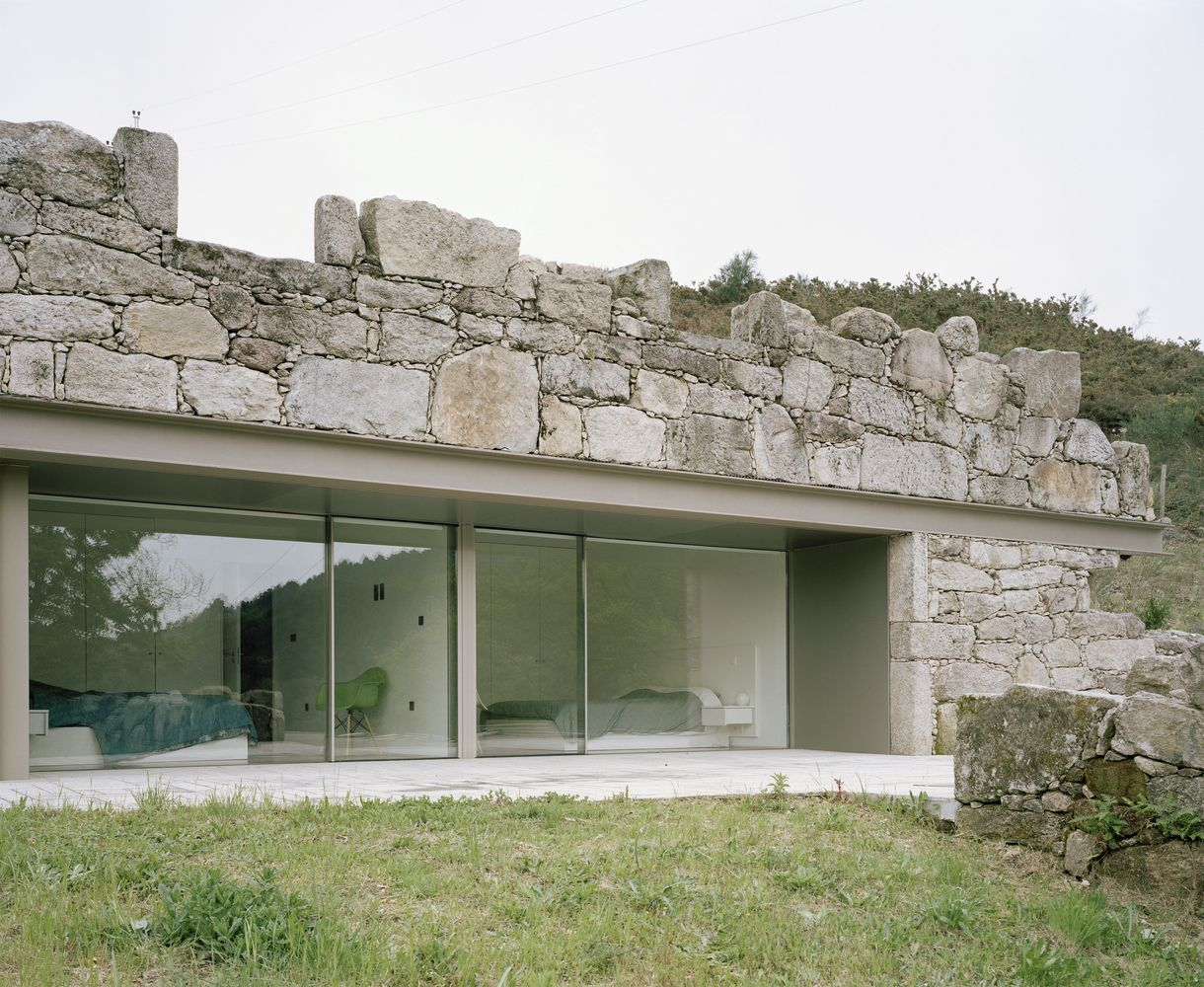 modern home architecture stone. Beautiful Stone House In Melgao From Nuno Brando Costa With Large Window Throughout Modern Home Architecture Stone