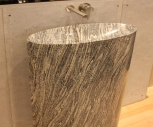 Awesome Infinity Pedestal Sink Also In Cumulo Granite From Stone Forest.