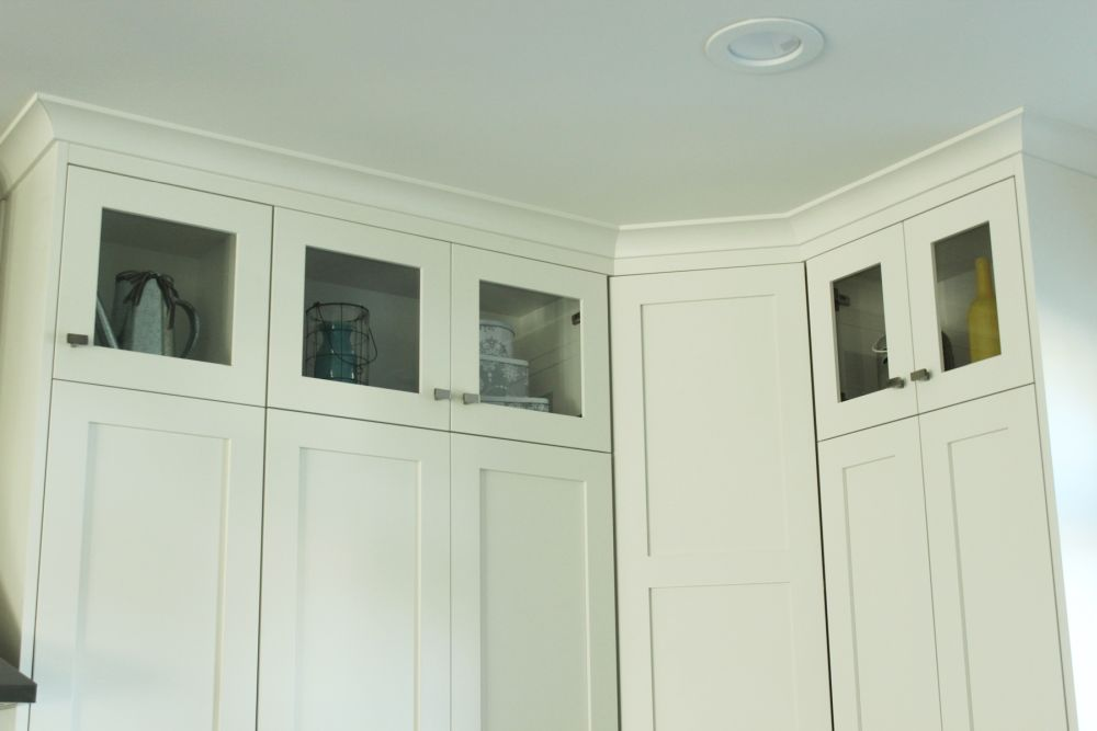 Kitchen cupboards glass doors