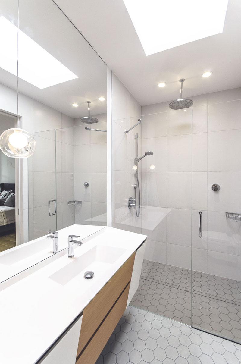 La Casa renovation in Montreal bathroom walk in shower