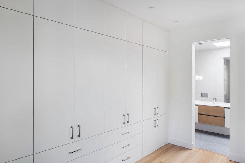 La Casa renovation in Montreal bedroom wall unit