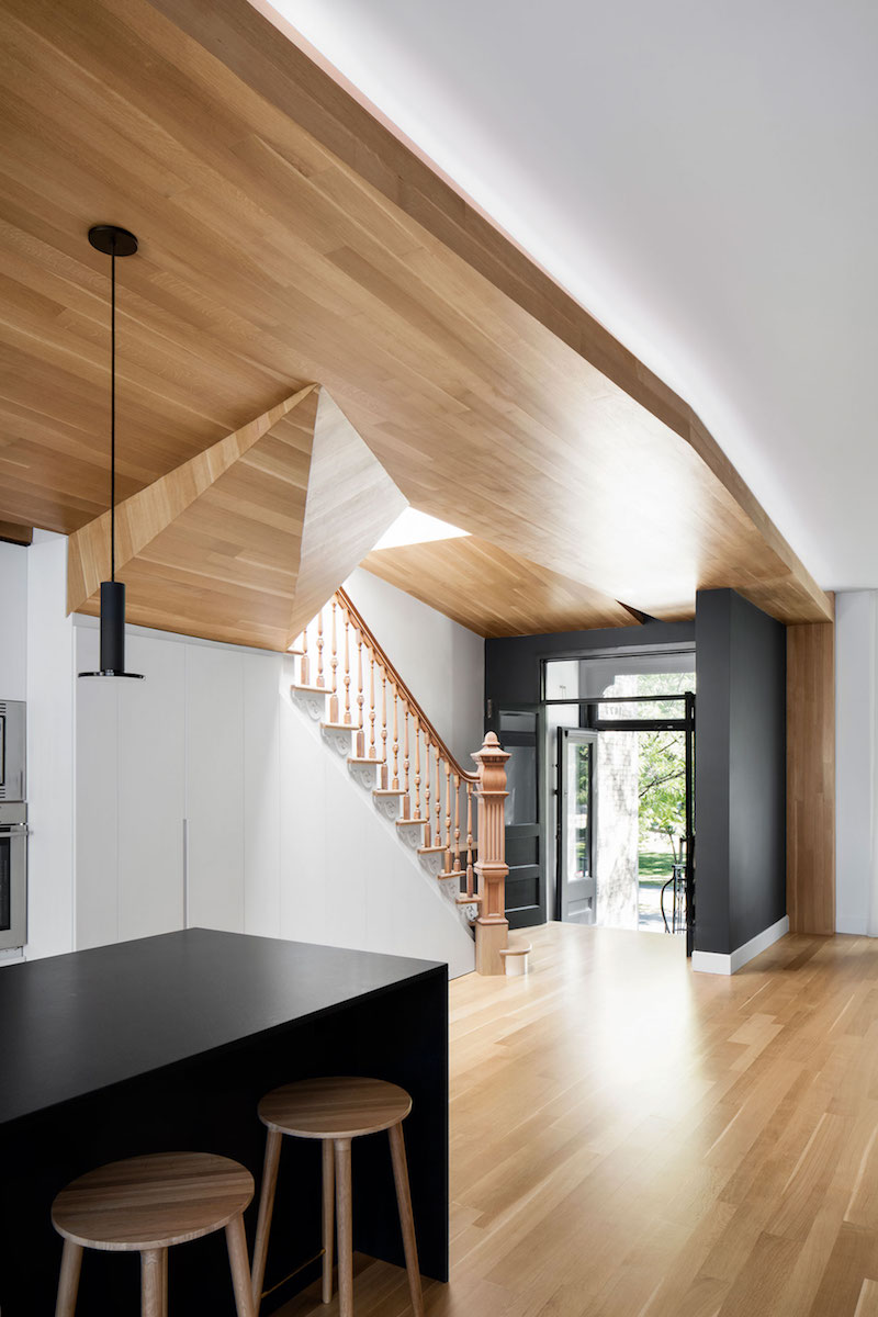 La Casa renovation in Montreal ceiling and staircase
