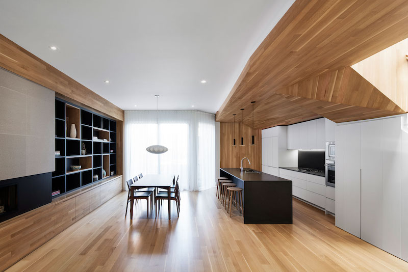 La Casa renovation in Montreal kitchen and dining area